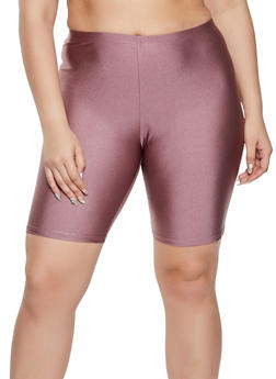 Plus Size Spandex Bike Shorts - 1960064720120