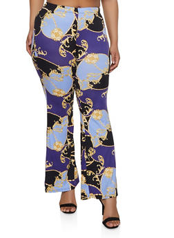 Plus Size Printed Soft Pants