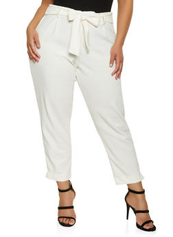 Plus Size Stretch Knit Dress Pants