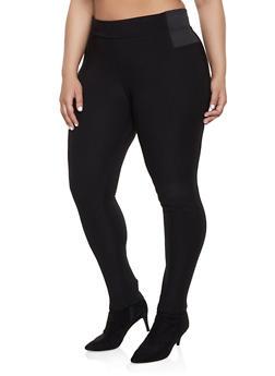 Black Plus Size Elastic Waist Pants