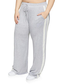Plus Size Varsity Stripe Pants - 1961054260858
