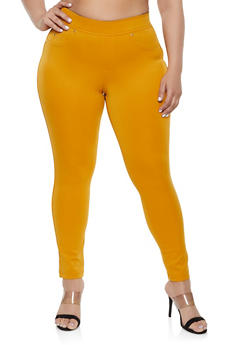 Plus Size Scuba Knit Jeggings | 1961056570021 - 1961056570021
