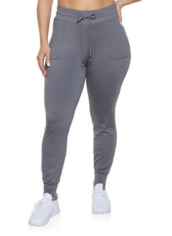 Plus Size Fleece Lined Joggers | 1961061630219 - 1961061630219