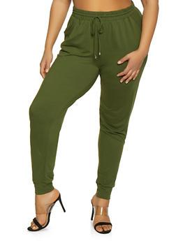 Plus Size Soft Knit Joggers | 1961061633519 - 1961061633519