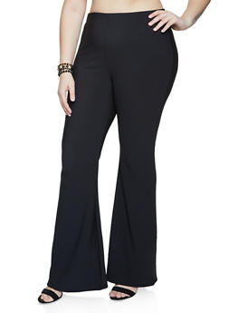 Plus Size Flared Pull On Pants - 1961062129025