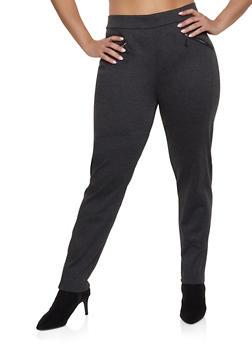 Plus Size Pull On Ponte Pants - 1961062701554
