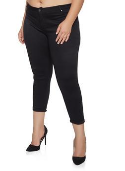 Plus Size Ponte Knit Pants - 1961062701605