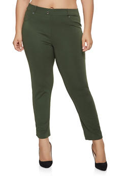 0cbd2ef1050 Plus Size Ponte Knit Pull On Pants - 1961062707582
