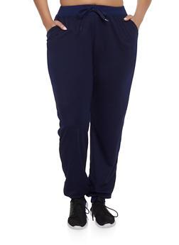 Plus Size Basic Joggers - 1961062708007