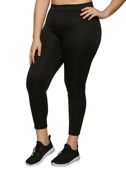 Plus Size Scuba Pull On Pants - 1961062909092