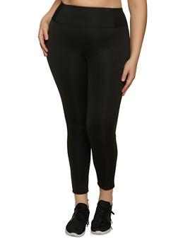 Plus Size Scuba Leggings - 1961062909178