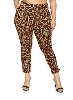 Plus Size Leopard Print Pants - 1961074015980