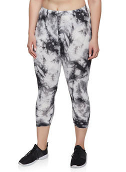 Plus Size Tie Dye Cropped Leggings | 1965001446999 - 1965001446999
