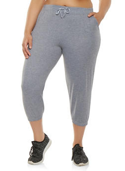 Plus Size Capri Sweatpants - 1965062700970