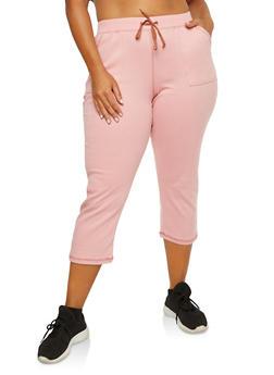Plus Size Cropped Sweatpants - 1965062708826