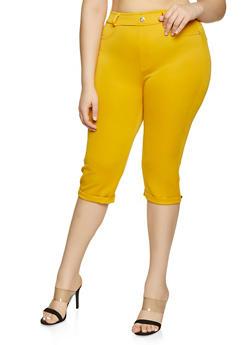 Plus Size Scuba Capris - 1965063400573