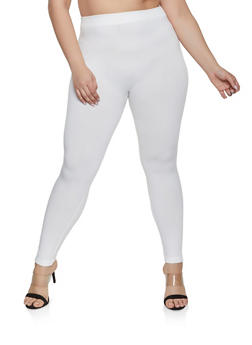 Plus Size Basic Leggings - 1969001440772