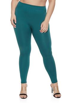 Plus Size Basic Leggings - 1969001440772