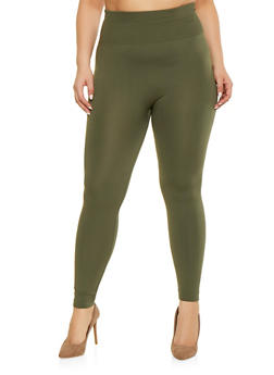 Plus Size Solid Leggings - 1969001441062