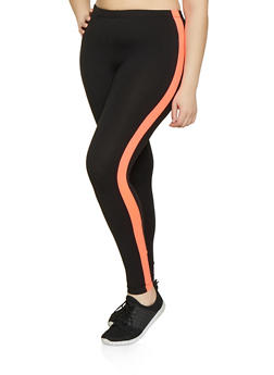 Plus Size Side Stripe Leggings | 1969001441329 - 1969001441329