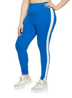 Plus Size Side Stripe Leggings | 1969001441329 - 1969001441329
