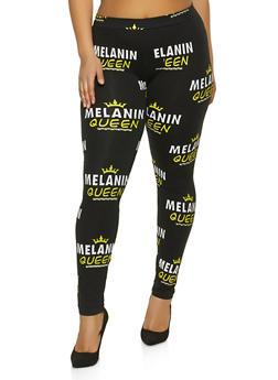 Plus Size Melanin Queen Leggings - 1969033871101