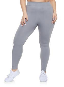 d4fd8fe2748 Plus Size Fleece Lined Seamless Leggings - 1969051063962