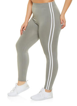 Plus Size Varsity Stripe Leggings | 1969051064122 - 1969051064122
