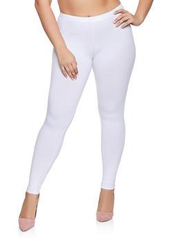 Plus Size Solid Leggings | 1969054261161 - 1969054261161