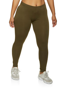 Plus Size Solid Leggings | 1969054261161 - 1969054261161