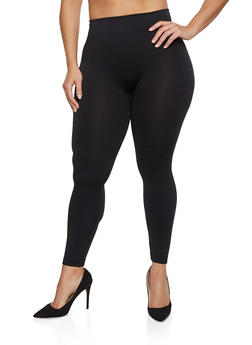 Plus Size Fleece Lined Leggings - 1969059162840