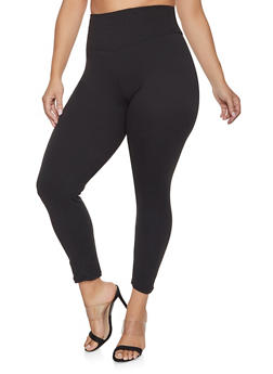 Plus Size Soft Knit Leggings - 1969060580050