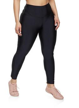 Plus Size Basic Spandex Leggings - 1969060582813