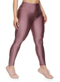 Plus Size Basic Spandex Leggings - 1969060582813