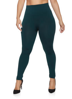 Plus Size Fleece Lined Leggings | 1969061631279 - 1969061631279
