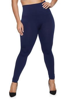 Plus Size Fleece Lined Leggings - 1969061631279