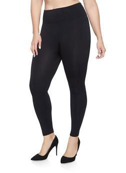 Plus Size Fleece Lined Leggings - 1969061631299