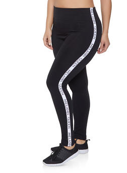 Plus Size Melanin Queen Tape Leggings - 1969061633289
