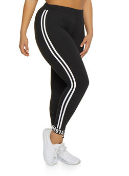 Plus Size Love Graphic Ankle Cuff Joggers - 1969061633777