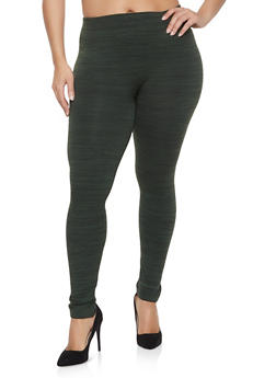 Plus Size Marled Leggings - 1969061633918