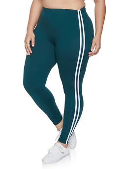 Plus Size Varsity Stripe Leggings | 1969061634918 - 1969061634918