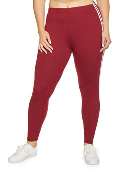 bdeabe096fc Burgundy Plus Size Leggings for Women