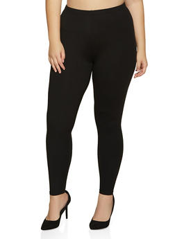 Plus Size Soft Knit Solid Leggings | 1969061636091 - 1969061636091