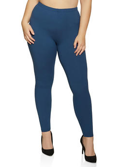 Plus Size Soft Knit Solid Leggings | 1969061636091 - 1969061636091