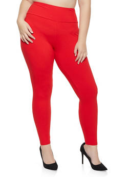 Plus Size Solid Soft Knit Leggings | 1969061637991 - 1969061637991