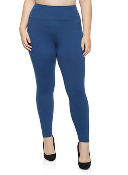 Plus Size Solid Soft Knit Leggings | 1969061637991 - 1969061637991