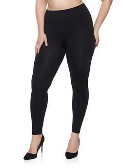 Plus Size Fleece Lined Leggings | 1969062902215 - 1969062902215