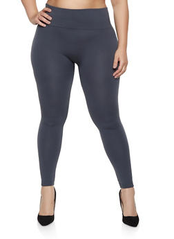 Plus Size Fleece Lined Leggings | 1969062902215 - 1969062902215