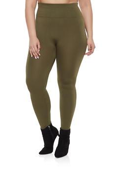Plus Size Fleece Lined Leggings - 1969062902215