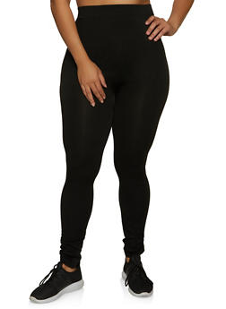 Plus Size Ruched Ankle Leggings - 1969062905101
